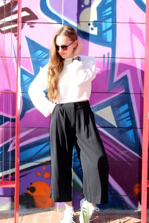 Black Culottes Pants