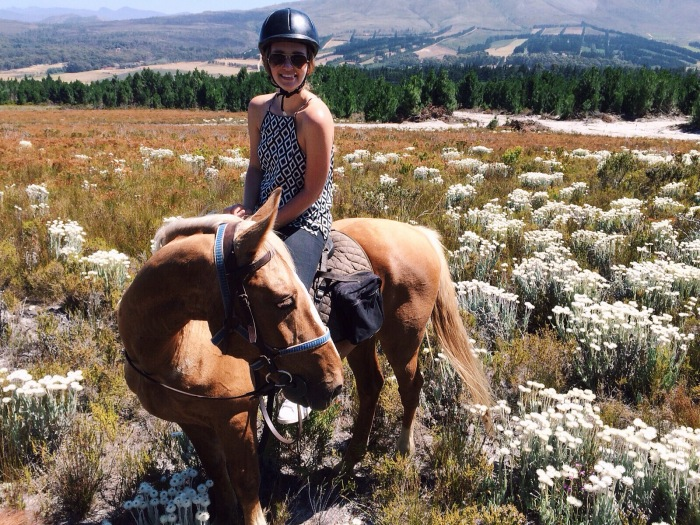Horse riding in the fields is something I will never forget!