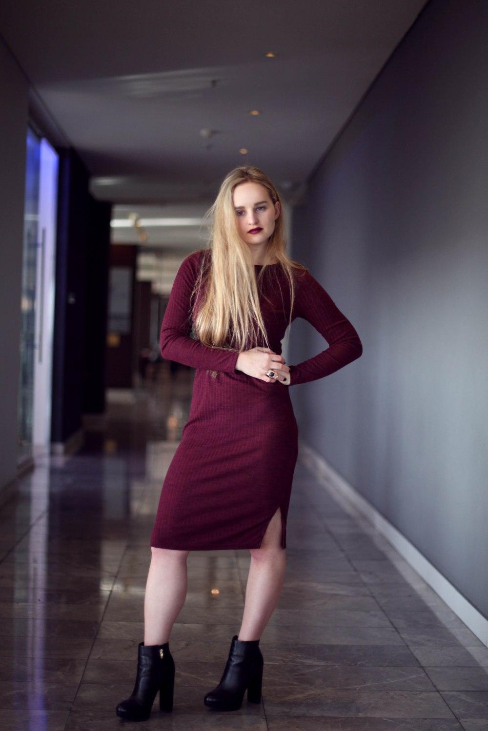 Trashcan Rebellion Red Wine Dress